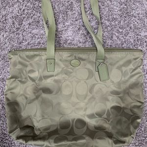 Coach Tote Bag with matching pouch set